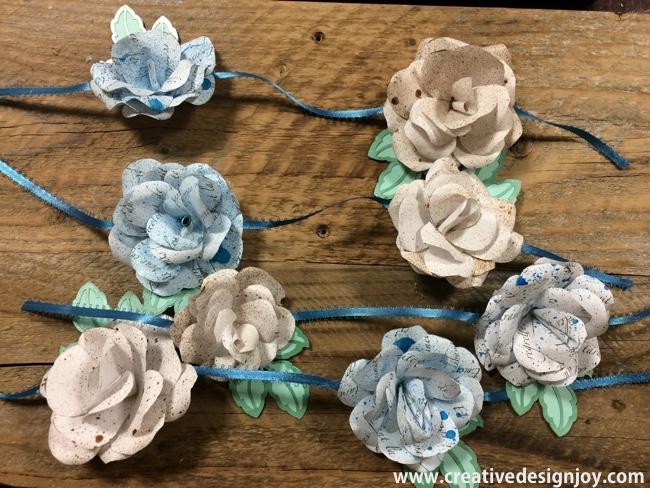 diy paper roses mobile