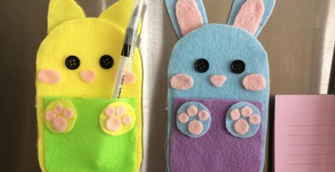 DIY felt pen holder