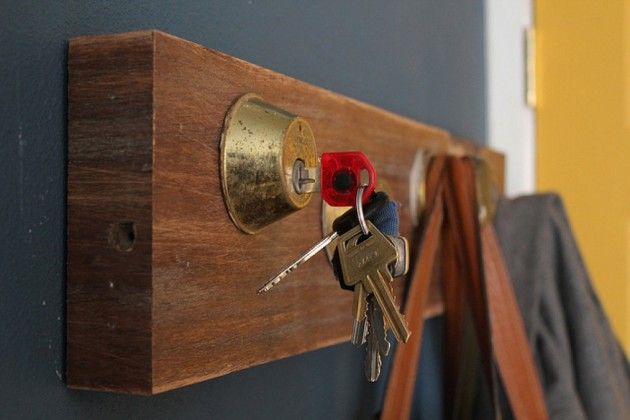 Key holder ideas from a piece of wood