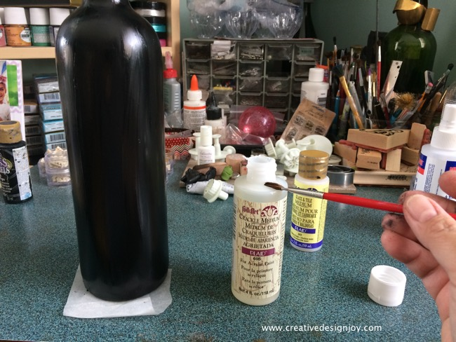 Painted Bottle Tutorial