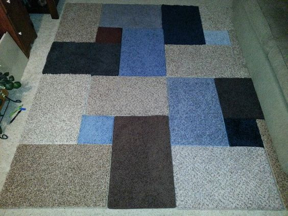 Rug from carpet samples