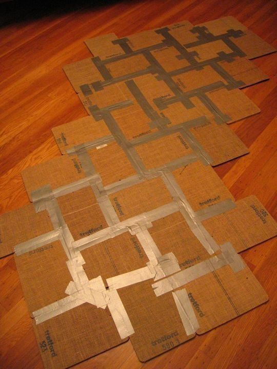 Rug from carpet samples duct tape on the back
