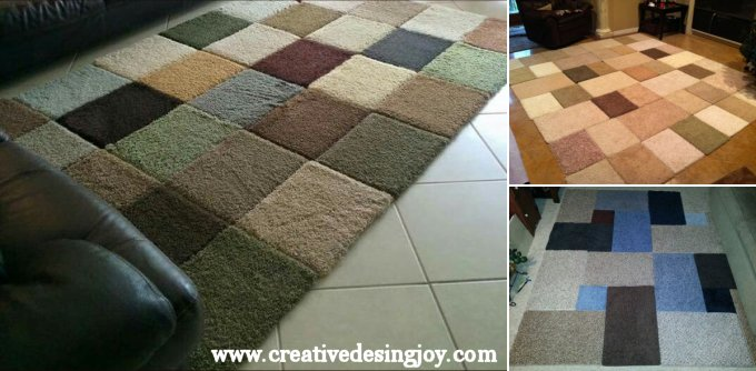 Rugs from carpet samples