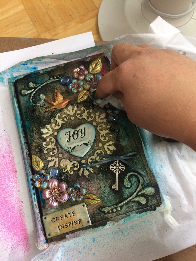 mixed media journal tutorial steps