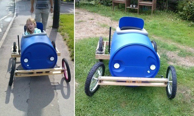 Barrel Derby Cart For Kids